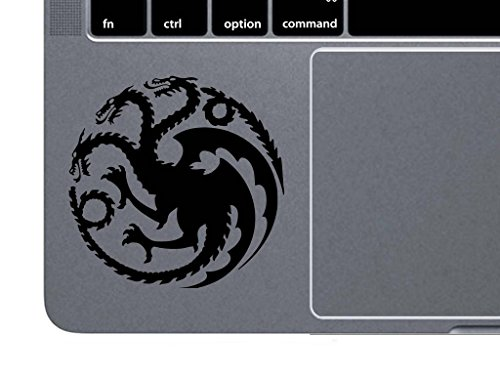 Netflix Costume Ideas (Targaryen Logo Game of Thrones House Mother of Dragons Decal Vinyl Sticker|Cars Trucks Vans Walls Laptop| Black |4.5 x 4.5)
