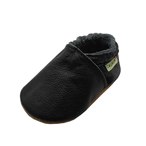 Baby Bottoms Adult (Sayoyo Baby Soft Sole Shoes Genuine Leather First Walker Infant Toddler Moccasins(0-6 Months, Black))