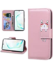 Miagon Animal Flip Case for Samsung Galaxy S8,Wallet PU Leather TPU Cover Design with Stand Magnetic Card Slots Shockproof Folio Gel Bumper,Rose Gold