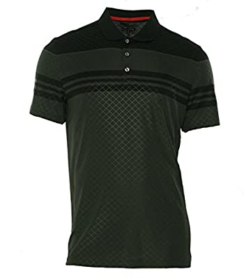 Calvin Klein Men's Performance Embossed Engineered Jacquard Polo