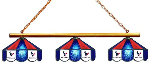 - Imperial Officially Licensed NFL Merchandise: Tiffany-Style Stained Glass Billiard/Pool Table 3 Shade Light, Houston Texans