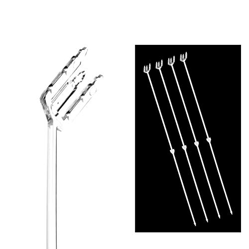 "Lucite Stick - 18"" Cardettes for Flower Arrangements, Plastic Floral Enclosure Gift Card Holder (Slanted Top) 50 Pcs by Royal Imports"
