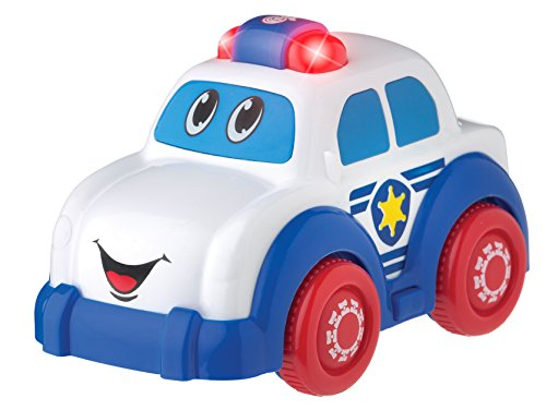 Playgro Lights and Sounds Police Car for Baby Infant Toddler, Fire Engine Red