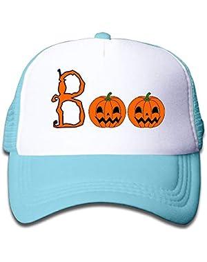 Halloween Boo4 On Boys and Girls Trucker Hat, Youth Toddler Mesh Hats Baseball Cap