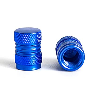 you you Aluminum Car Tire Valve Caps, 4 PCS Car Bike Stem Wheel Tyre Dust-Proof Caps, Anodized Universal Covers Suits All American Cars,Bicycle and Trucks Multicolor (Blue): Automotive