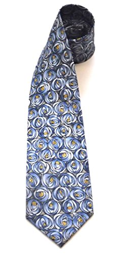 Boxelder Charles R Mackintosh ROSES Design Museum Art Inspired Silk Tie Onesize Blue/Taupe