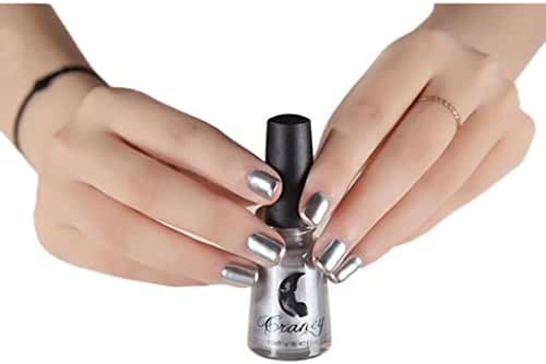 Mchoice Mirror Nail Polish Plating Silver Paste Metal Color Stainless Steel Mirror Silver Nail Polish for Nail Art