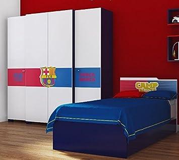 Muebles infantiles dormitorio juvenil completo habitación de los Niños con Oficial FC BARCELONA logo5: Amazon.es: Hogar