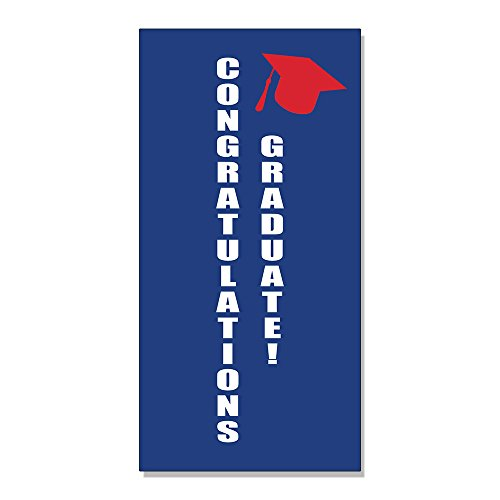 Congratulations Graduate! DECAL STICKER Retail Store Sign - 4.5 x 12 inches