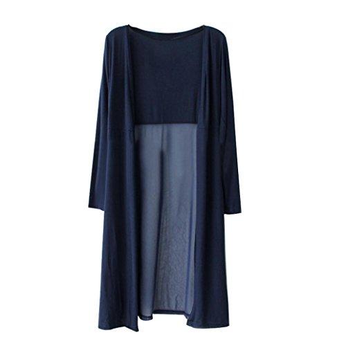 Amlaiworld Cardigan Maxi Soie Long Marine En Kimono Plage ❤️cardigan Cover Shawl Up De Manteau Mousseline Femmes Bohème rqrRw8H