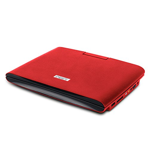 "Cinematix 9"" Portable DVD Player Red 70168"