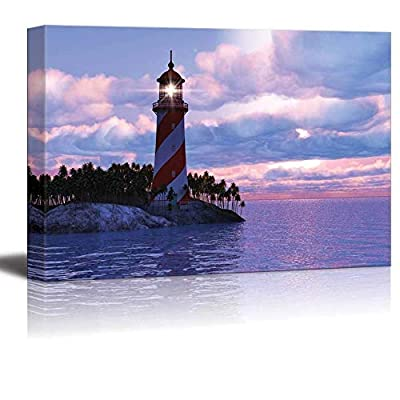 Canvas Wall Art - Navigation Lighthouse - Poster Giclee Wall Decorations for Living Room High Definition Printed - 16x24 inches