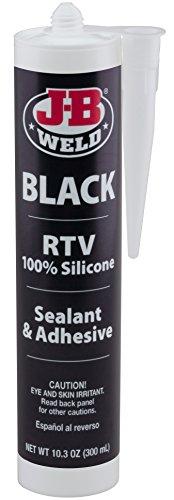 Black Rtv Silicone - J-B Weld 31919 Black RTV Silicone Sealant and Adhesive - 10.3 oz.