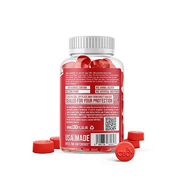 CBDfx Apple Cider Vinegar & B12 CBD Gummies (60 Gummy Bottle) – 1500mg CBD