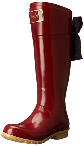 Joules Women's Evedon Rain Boot, Red, 10 M US by Joules