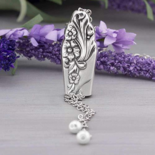 Evening Star 1950 Silverware Slider Necklace