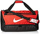 Nike Brasilia Training Medium Duffle Bag, Durable Duffle Bag for Women & Men with Adjustable Strap, University Red/Black/White