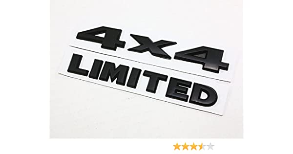 Yoaoo-oem 2pcs by Yoaoo-oem 2Pcs Black Auto Tuning Limited Trunk Hood Door Emblem Decal 3d Logo for Toyota Ford Jeep Grand Cherokee Wrangler Compass Auto Chrome 1set
