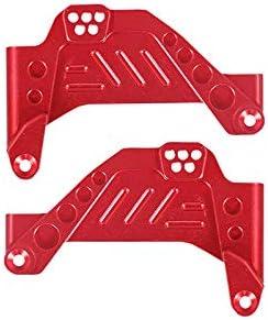 Cimoto Supporto Ammortizzatore Supporto Ammortizzatore Posteriore Anteriore nel Metallo per Assiale SCX10 III AXI03007 RC Crawler Rosso