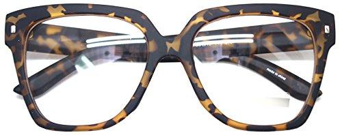 Retro Nerd Geek Oversized Eye Glasses Horn Rim Framed Clear Lens Spectacles - Glasses Brand Geek
