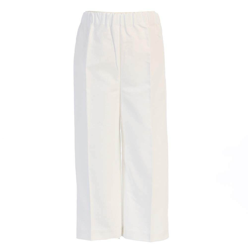 Lito Big Boys White Elastic Special Occasion Long Dress Pants 8-14