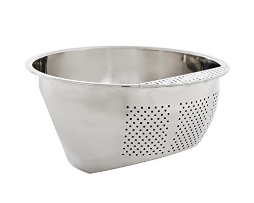 Helen's Asian Kitchen 97123 Japanese Rice Washing Bowl with Perforated Side Drainer, 3-Quart Capacity by Helen's Asian Kitchen (Image #1)