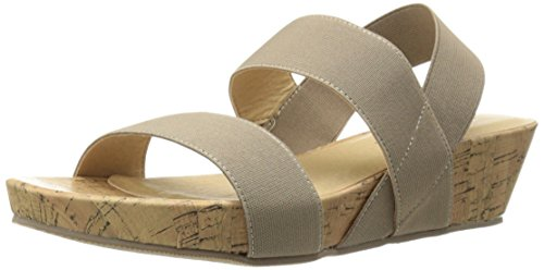 (CL by Chinese Laundry Women's Nadia Wedge Pump Sandal, Taupe Gore,  9.5 M US )