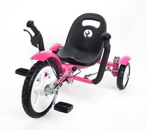 Mobo Cruiser Tot Ergonomic Toddler's Three Wheeled Cruiser, Pink, 12-Inch