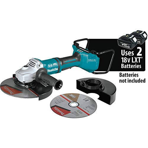 Makita XAG23ZU1 18V X2 LXT Lithium-Ion 36V Brushless Cordless 9 Paddle Switch Cut-Off Angle Grinder, with Electric Brake and AWS, Tool Only