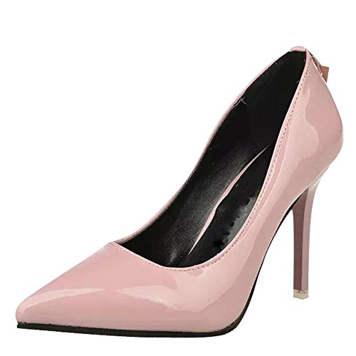 Mee Shoes Damen Stiletto spitz Geschlossen Pumps Pink