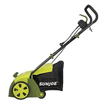 "Sun Joe Aj801e 12 Amp 12.6"" Electric Scarifier Plus Lawn Dethatcher With Collection Bag 2"