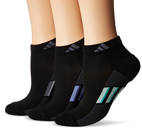 adidas Womens Climacool Superlite Low Cut Socks (3-Pack), Black/Pastel Multi, Size 5-10