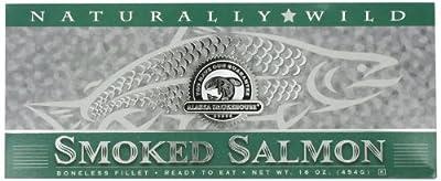 Alaska Smokehouse Smoked Salmon Fillet In Green, 16 Ounce Gift Box