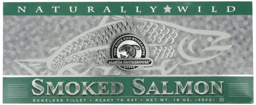 (Alaska Smokehouse Smoked Salmon Fillet In Green, 16 Ounce Gift Box)