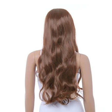 ABING Long Classical Curly Dress Party Wigs For Woman With Wig Cap Light Brown