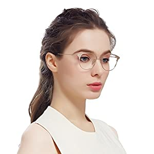 Jardin d'amour Designer Cat Eye Round Womens Mens Optical Glasses Metal Frames JA7205 Gold