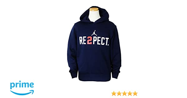 3d9d89731ac785 Amazon.com  Nike Jordan Boy s Derek Jeter Re2pect Pullover Hoodie  954889-774 College Navy White (X-Large)  Sports   Outdoors
