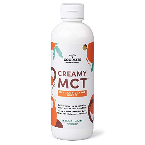 Simply GOODFats Simply Goodfats Creamy Mct Mandarin Orange Dream, 16 Fluid Ounce (Simply Coconut Oil)