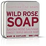 Scottish Fine Soaps Finest Triple Milled Soap for Women, Wild Rose, 3.5 Ounce