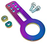 towing hook rsx - Neo Chrome Steel Front Bumper High Strength Racing Tow Hook Set for Acura RSX