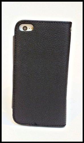 Apple Iphone 5 KlappTasche Hülle Case Tasche Wallet BookStyle Schwarz-Braun @ Energmix