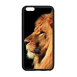 iPhone 6 Plus Case, King Lion Face Black TPU Frame & PC Hard Back Protective Cover Bumper Case for iPhone 6 Plus 5.5 Inch On 2014