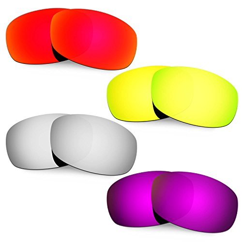 HKUCO Mens Replacement Lenses For Costa Brine Red/Black/24K Gold/Purple Sunglasses