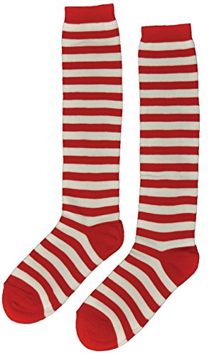 Raggedy Ann Andy Costumes Adults (Raggedy Ann & Andy Licensed Red & White Striped Socks Stockings - Adult)