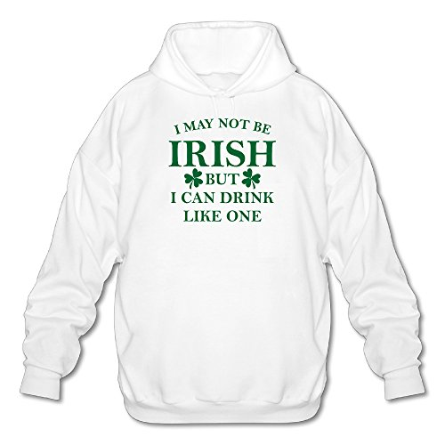 I May Not Be Irish But I Can Drink Men Comfortable Hoodie Sweatshirt Best Hoodie