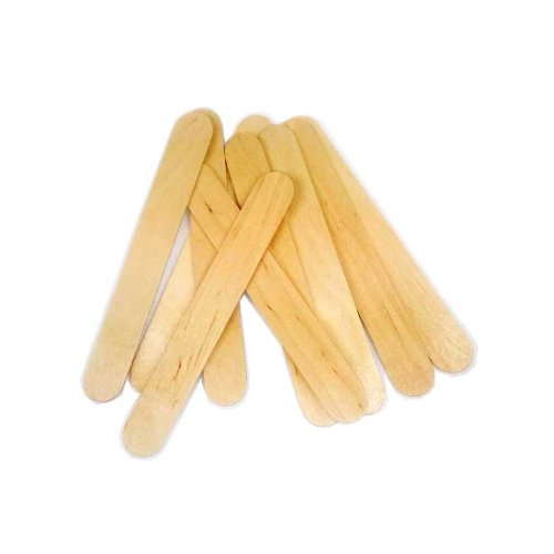 Huini 1200 Count Salon Waxing Hair Removal Large Wooden Spatulas Wax Applicator 6 x 3/4in