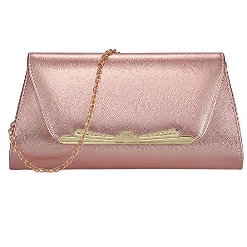 (Womens Evening Clutch Bridal Prom Handbag shoulder bag Wedding Purse Party Bag (SLIVER B))