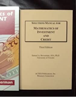Solutions manual for mathematics of investment and credit mathematics of investment credit solutions manual fandeluxe Gallery