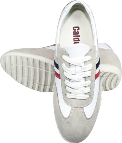 CALDEN K217202-2.4 Inches Taller - Height Increasing Elevator Shoes (White Lace-up Casual Shoes) cheap sale purchase limited edition cheap price outlet finishline CMVazeqvKG