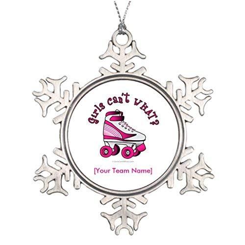 (Hipporal Tree Branch Decoration Girl Roller Derby Skate - Pink Christmas Home)